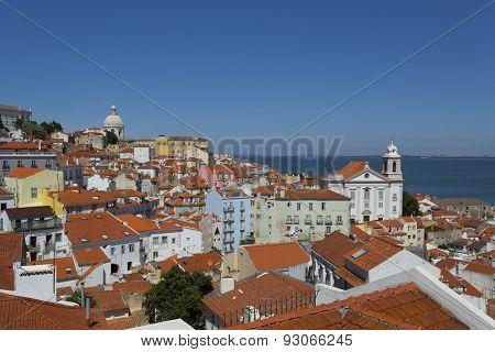 View Of Alfama In Lisbon