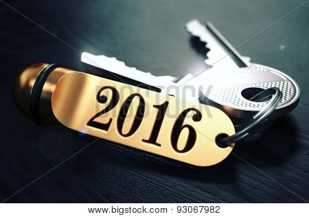 2016 Concept. Keys with Golden Keyring.