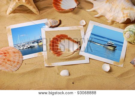 Summer Holidays Background With Seaside Photos On The Beach