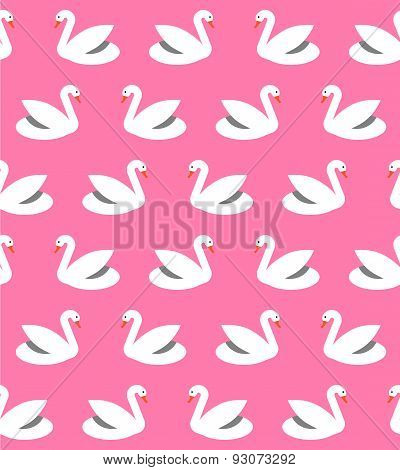 Seamless Pattern With Swans