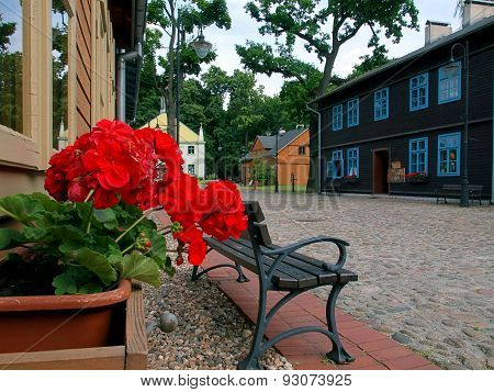 Houses settlement of an old Lodz.