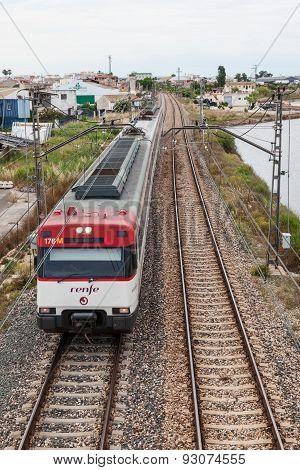 Passenger Train In Spain
