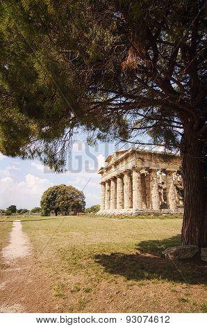 Temple Of Neptune In Paestum.