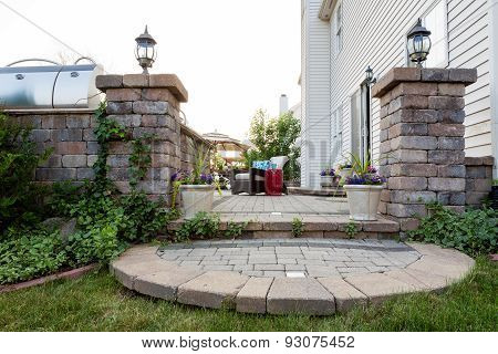 Welcoming Entrance To An Outdoor Patio