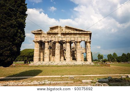 Archaeological site of Paestum Temple of Neptune . Italy