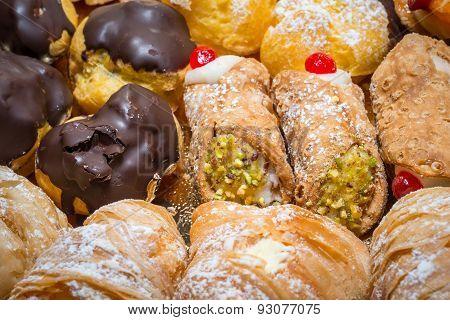 Pastries Close Up