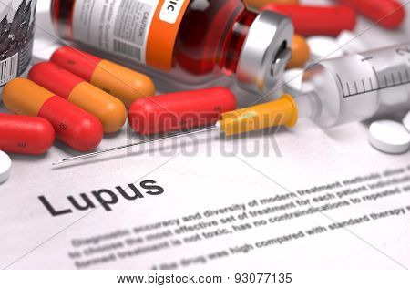 Diagnosis - Lupus. Medical Concept.