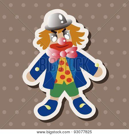 Circus Clown Theme Element