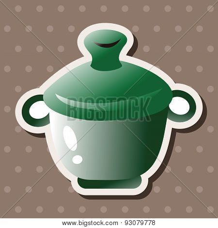 Kitchenware Pot Theme Elements
