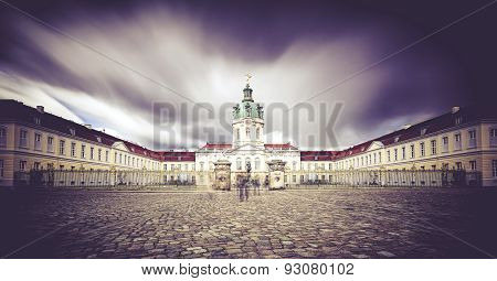 Long Exposure Shot, Entrance Of The Schloss Charlottenburg, Berlin