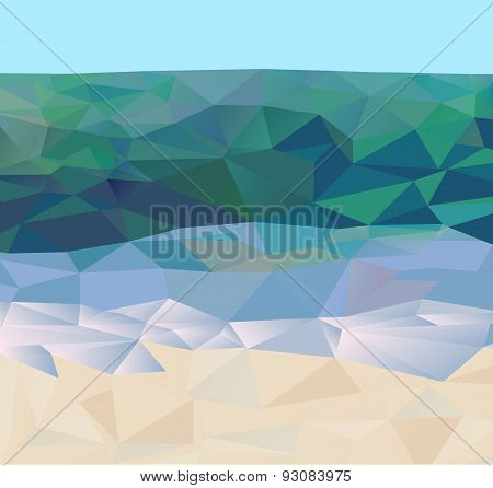 Blue green ocean sand beach background