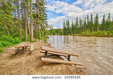 Flood Damaged Picnic Area