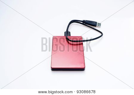 Red external hard disks
