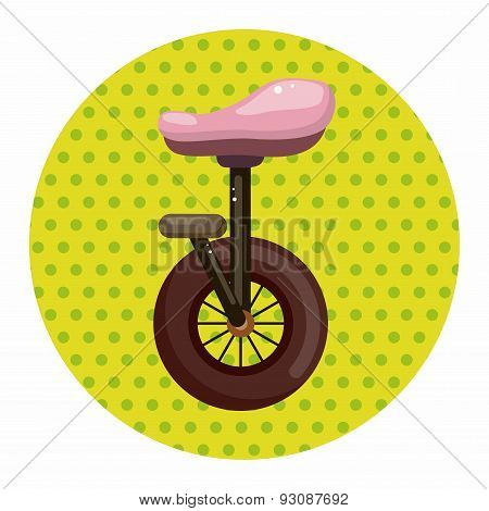 Circus Unicycle Theme Elements
