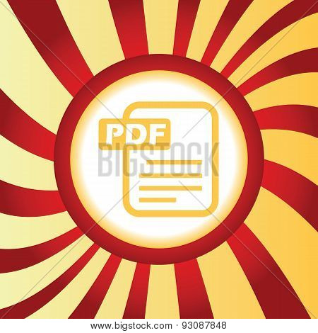 PDF file abstract icon