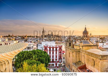 Seville, Spain Old Quarter Skyline.