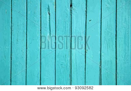 blue painted old wooden wall. cyan background, vector