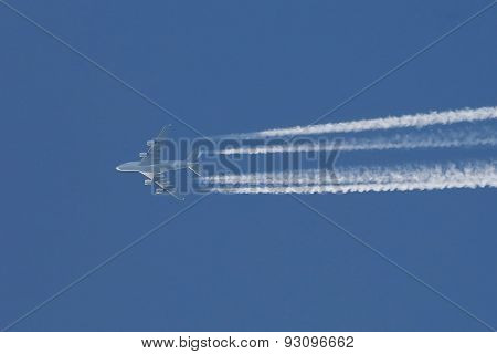 Plane at cruising altitude