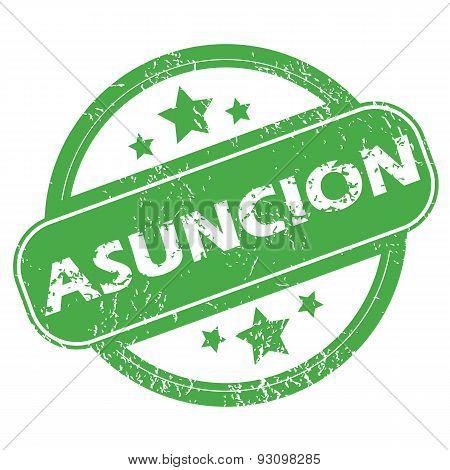 Asuncion green stamp