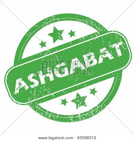 Ashgabat green stamp