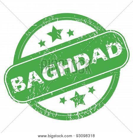 Baghdad green stamp