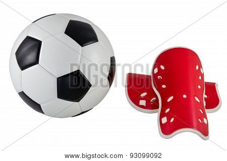 Soccer Ball And Shin Guard