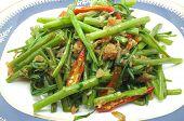 stock photo of glory  - Stir Fried Water Spinach - JPG