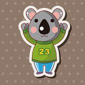 stock photo of koala  - Animal Koala Winter Cartoon Theme Elements - JPG