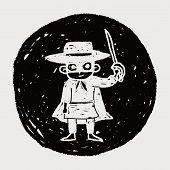 pic of zorro  - Mask Man Doodle - JPG