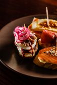 image of piquillo pepper  - Tapas on Crusty Bread - JPG