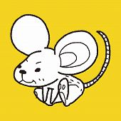 stock photo of mouse trap  - Mouse Doodle - JPG