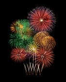 pic of firework display  - Fireworks display for new year and celebration event - JPG
