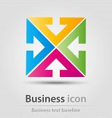 picture of arrowhead  - Originally created business icon with colorful stylized cross from arrowheads - JPG