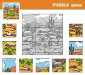 stock photo of venomous animals  - Puzzle Game for children with animals  - JPG