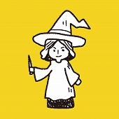 stock photo of sorcery  - Wizard Doodle - JPG