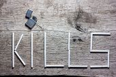 picture of cigarette lighter  - Smoking kills  - JPG