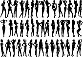 Beautyfull Girls - Silhouette  Illustration
