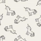 picture of unicorn  - Unicorn Doodle - JPG