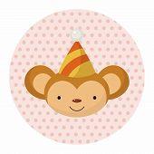 pic of cartoon animal  - Animal Monkey Cartoon Theme Elements - JPG