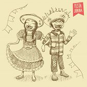 picture of hillbilly  - For brazilian typical June  - JPG