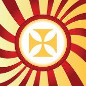 pic of maltese-cross  - Yellow icon with image of maltese cross - JPG