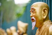 pic of ten  - Statues at Ten Thousand Buddhas Monastery in Sha Tin - JPG