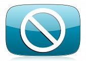 stock photo of denied  - access denied icon   - JPG