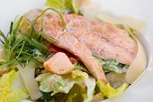 pic of caesar salad  - Chicken meat and salad known as  - JPG