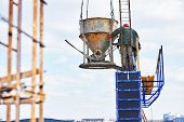 pic of concrete pouring  - concreting work - JPG