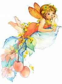 stock photo of fairies  - Cute girl - JPG