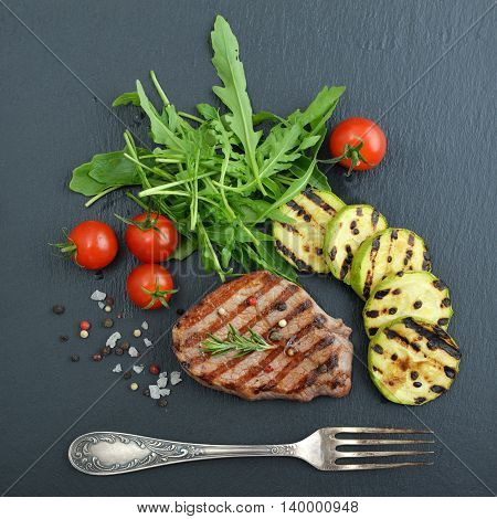 Grilled Steak With Arugula