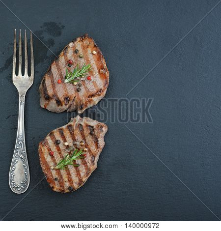 Grilled Steak With Fork