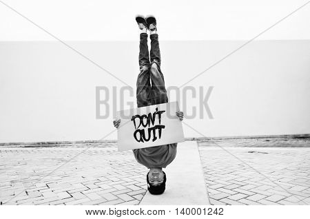 Headstand Dancer Sign Outdoors Concept