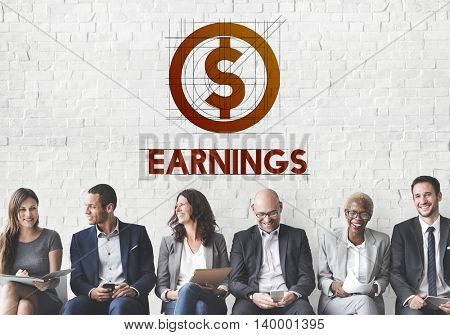 Earnings Finance Money Technology Graphic Concept